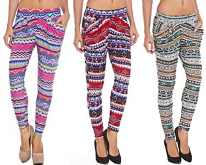 Women Multi Color Harem Genie Pants - XL/XXL - Pink