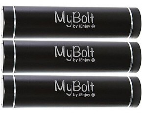 MyBolt 3-Pack Portable Flash Charger - Black