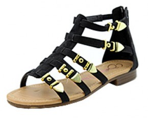 Anna Shoes Draft Gladiator Sandal - Size 8 - Black