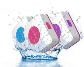 Urge Basics UG-AQUACUBE-BLU Aquacube Water Resistant Shower Speaker with Suction Cup - Blue