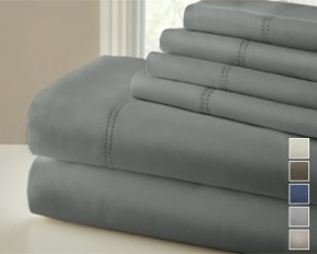 Symphony 1000TC Double Hem Sheet Set - Beige - King