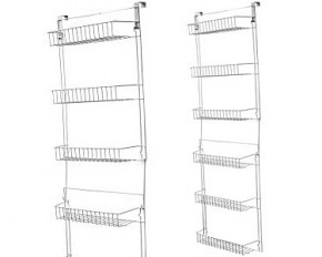 5-Foot Overdoor Storage Basket Rack