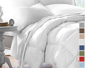 Club Le Med Down-Alternative Comforter - White - Full/Queen