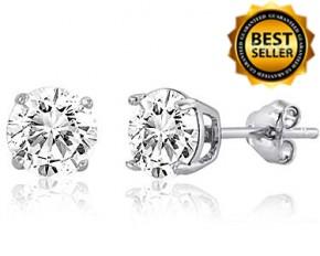 Swarovski Elements Stud Earrings - Sterling Silver