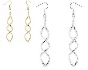 Michelle Mies 14 Karat Gold Twist Earrings