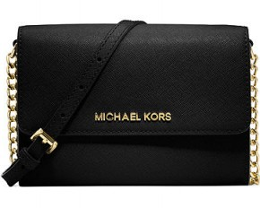 Michael Kors Jet Set Travel Crossbody - Black Saffiano