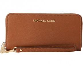 Michael Kors Jet Set Continental Wallet - Luggage Saffiano