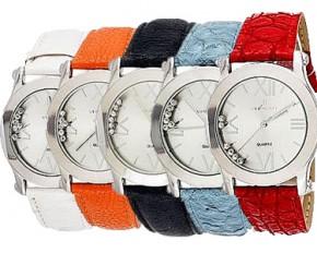 Via Nova Women's Silver Plated with Blue Band Analog Watch