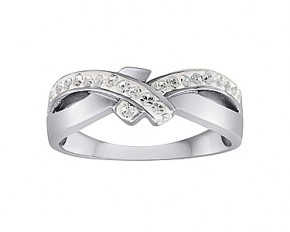 Swarovski Elements SS Lover's Knot - Size 8
