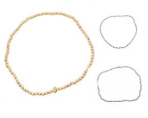 Lesa Michelle Textured Round Bead Stretch Bracelet
