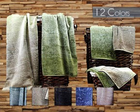 Yarn Dyed 6-Piece Jacquard Towel Set - Spring Breeze
