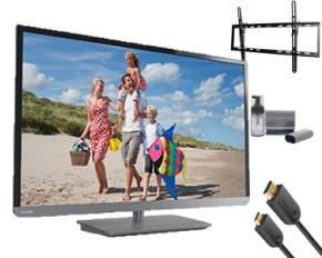 Toshiba 32L2400U 32-Inch 1080p 120Hz LED TV Bundle