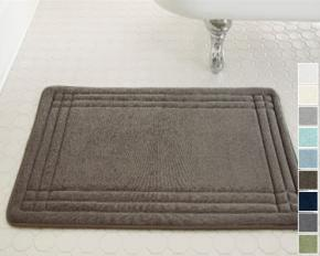 Spa Collection Luxury Embossed Memory-Foam Bath Mat - Taupe