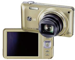 GE Super Slim 14-megapixel Digital Camera 10X Optical - Champagne - Refurbished