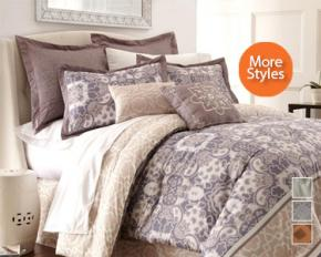 PCT Home Collection Penelope Jacquard 8-Piece Comforter Set - Queen