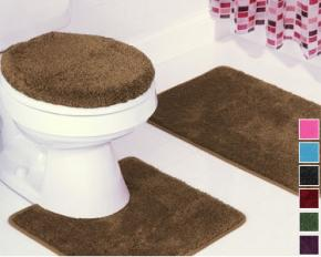 Hailey 3-Piece Bathroom Set - Chocolate