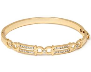 Sevil Designs Gold and Sparkle Double Block Bangle
