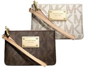 Michael Kors Jet Set Signature Small Wristlet - Vanilla