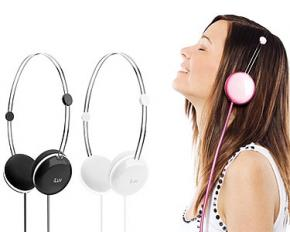 iLuv iHP613 Sweet Cotton Headphones with Speak EZ Remote - Black