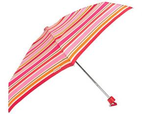 Coach Peyton Multi-Stripe Mini Umbrella Silver/Pink