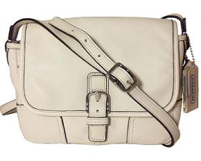 Coach Hadley Leather Field Bag - Parchment