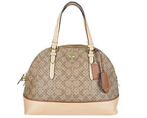 Coach Peyton Perforated Cora Domed Satchel
