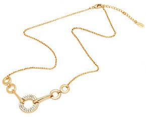 Sevil Designs Gold and Sparkle Open Disc Necklace