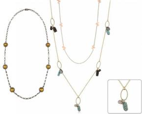 Michelle Mies 36-Inch Beaded Station Necklace