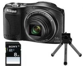 Nikon COOLPIX L610 16-megapixel Digital Camera Bundle with 14x Zoom and 3.0-inch LCD - REFURBISHED