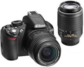 Nikon D3100 14-Megapixel Digital SLR Double Zoom Camera Kit-Refurbished