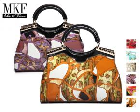 MKF Collection Cynnie Printed Shoulder Bag - Orange