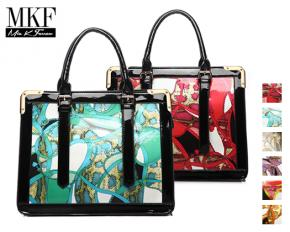 MKF Collection Kerrington Printed Handbag with Removable Strap - Red