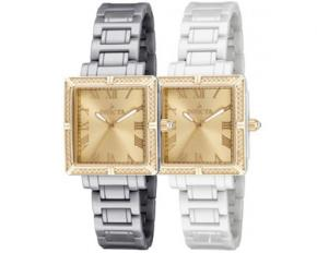 Invicta Women's Angel Ceramics Analog Watch - Gold & White