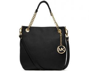 Michael by Michael Kors Jet Set Medium Chain Shoulder Tote - Black