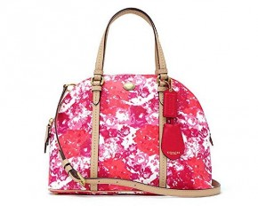 Coach Peyton Floral Domed Satchel - Pink Multicolor