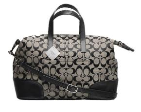 Coach Hadley Signature Zip Satchel - Silver/Black