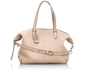 Coach Bleeker Cooper Pebble Leather Satchel - Silver / Peach