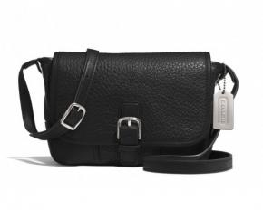 Coach Hadley Luxe Grain Field Bag - Silver / Black