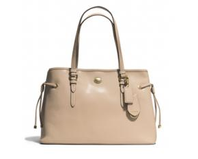 Coach Peyton Leather Drawstring Carryall - Sand