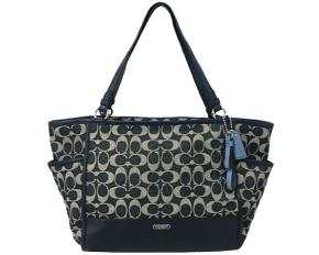 Coach Park Signature Carryall Tote - Denim