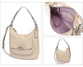 Coach Kristen Leather Hobo - Champagne with Silver Hardware