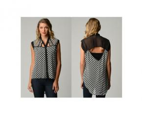 Dinamit Women's Plus Size Chiffon Checkered Shirt - 2XL