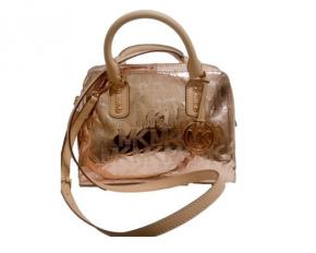 Michael Kors Signature Mirrored Satchel - Rose