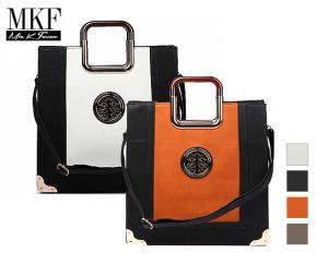 MKF Collection Susane Medallion Tote with Removable Strap - Black