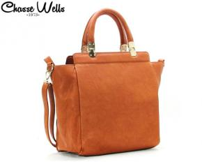 Chasse Wells Simple Que Mon Cœur Tote - Orange Brown