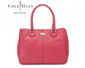 Cole Haan Village Soft II Snap Satchel - Raspberry