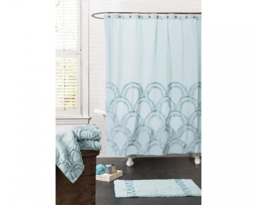 chicmarket.com - Lush Décor Esme Spa Shower Curtain - Blue