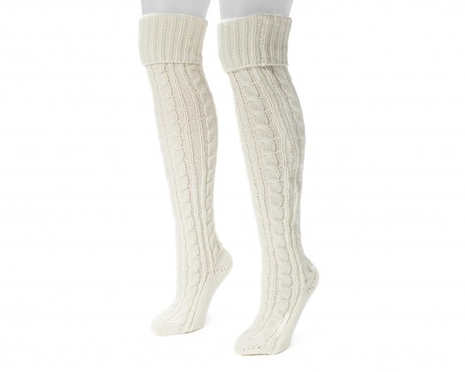 Knitting Pattern For Over The Knee Socks : chicmarket.com - MUK LUKS Womens Cable Knit Over the Knee ...