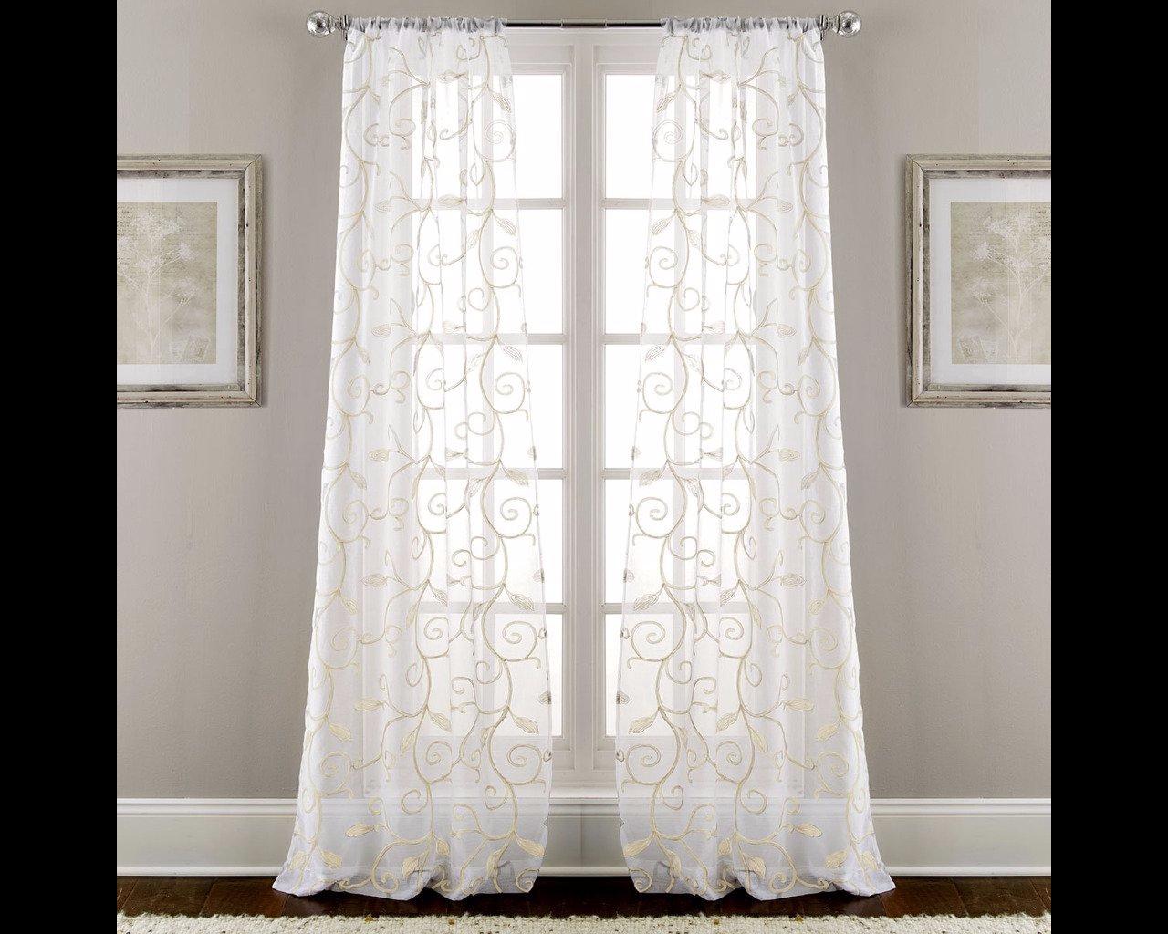 Royal Velvet Embroidered Panel Curtains Ebay