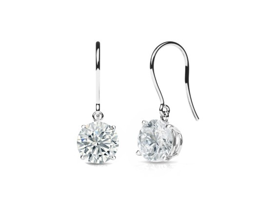 chicmarket 2 00 ctw solitaire hook earrings made with